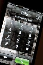 999 emergency telephone used to summon assistance from the central monitored call centre in times of emergency